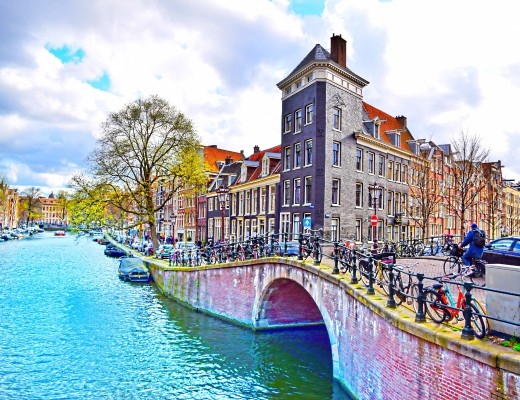 Walking through beautiful Amsterdam