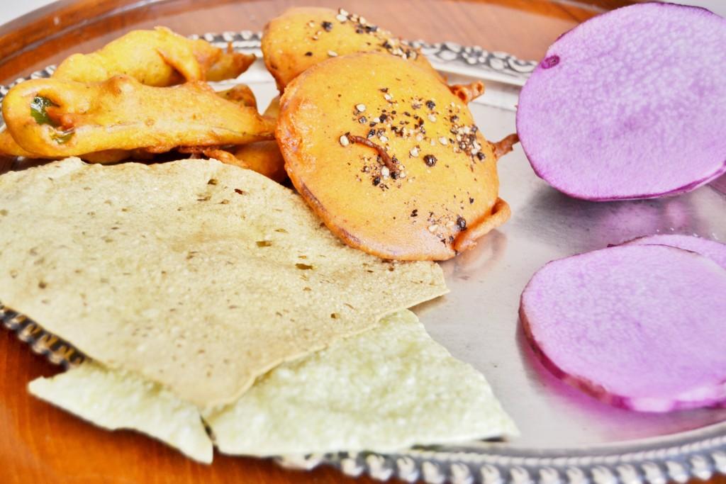 Ratalupuri: bhajiya, pakora or fritters