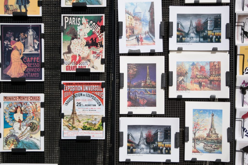 Postcards rack, Paris, France