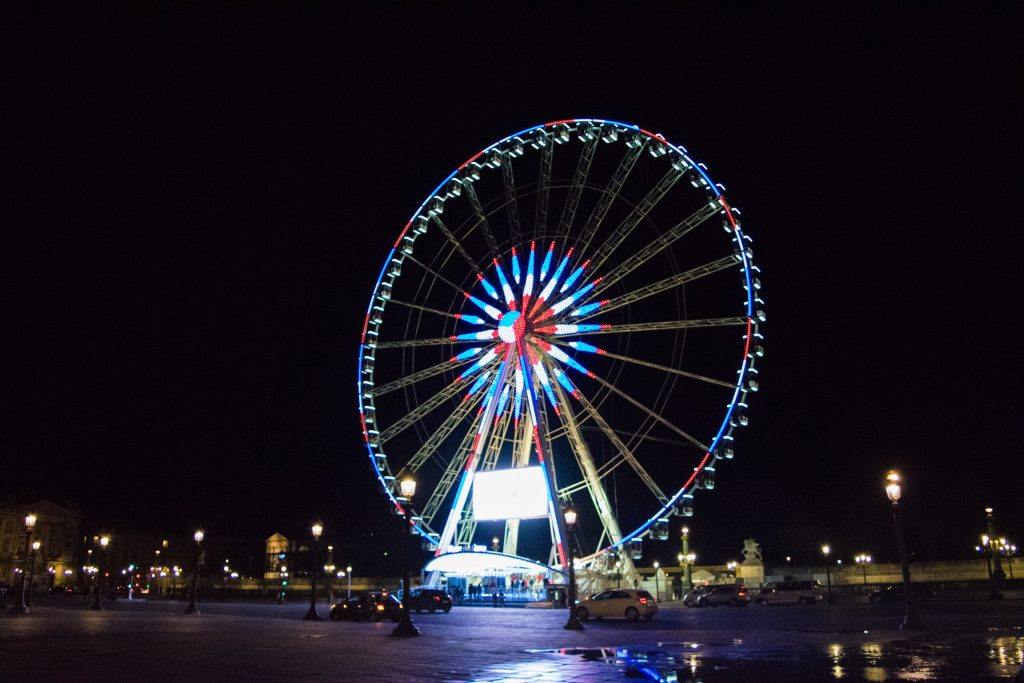Ferris Wheel on Place de la Concorde, Paris, France