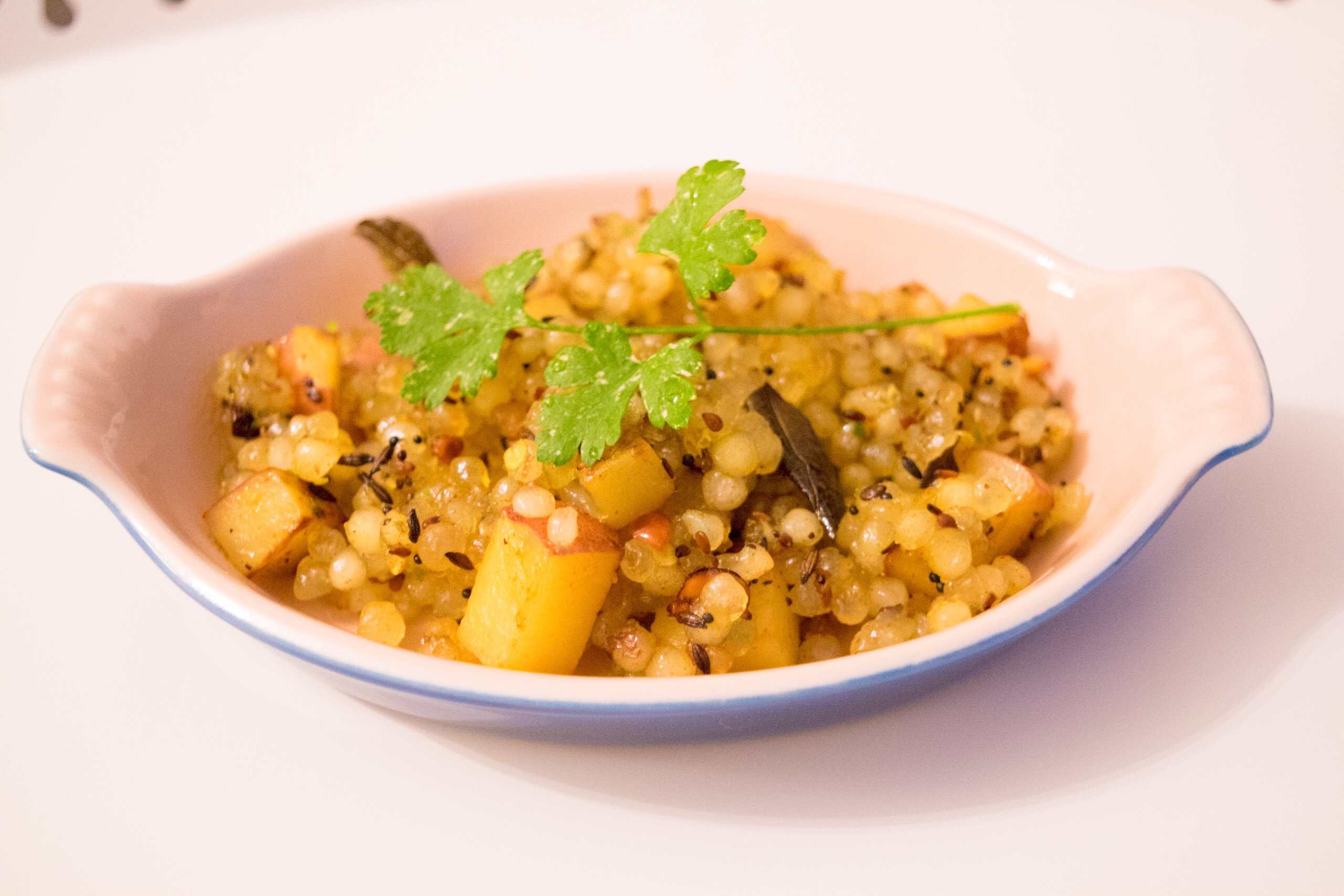 I can right now about use a plate of Sabudana Khichdi.
