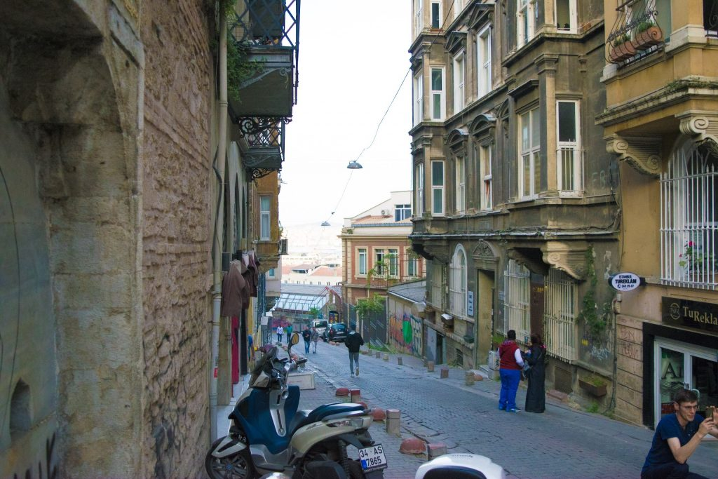 Downhill alleyway from Galata Tower