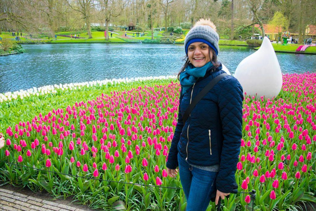 """I fall in love with Keukenhof in a heartbeat"" - Nidhi Patel"