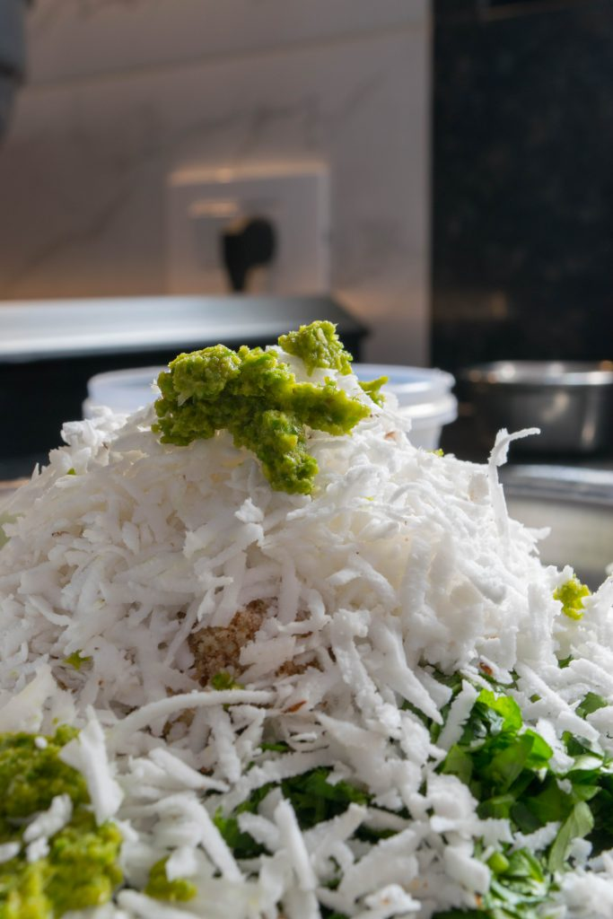 Grated Coconut, Green Chilli & Ginger Paste - NidhiPatel.com
