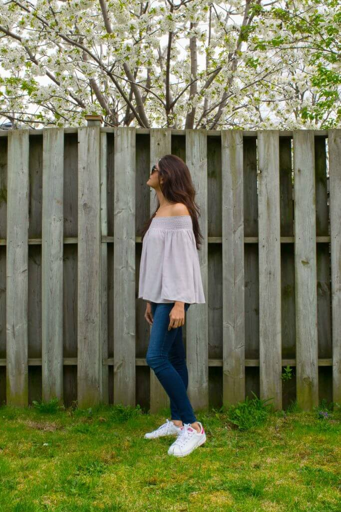 Crepe Off the shoulder top - NidhiPatel.com