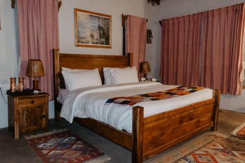 Pine room bed and linens