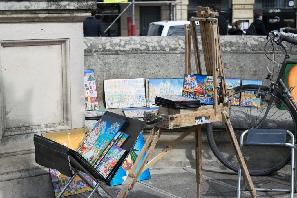 Oil paintings, Paris, France