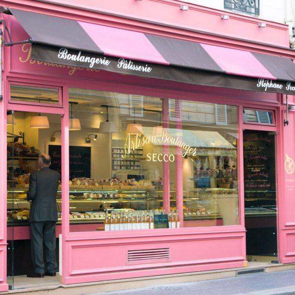 Pink dessert shop