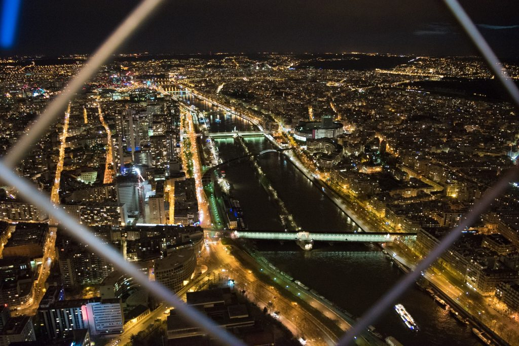 City View from Eiffel Tower, Paris, France
