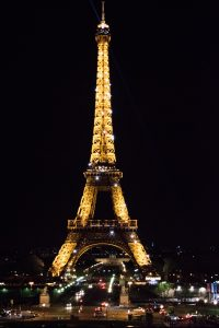 Twinkling Eiffel tower