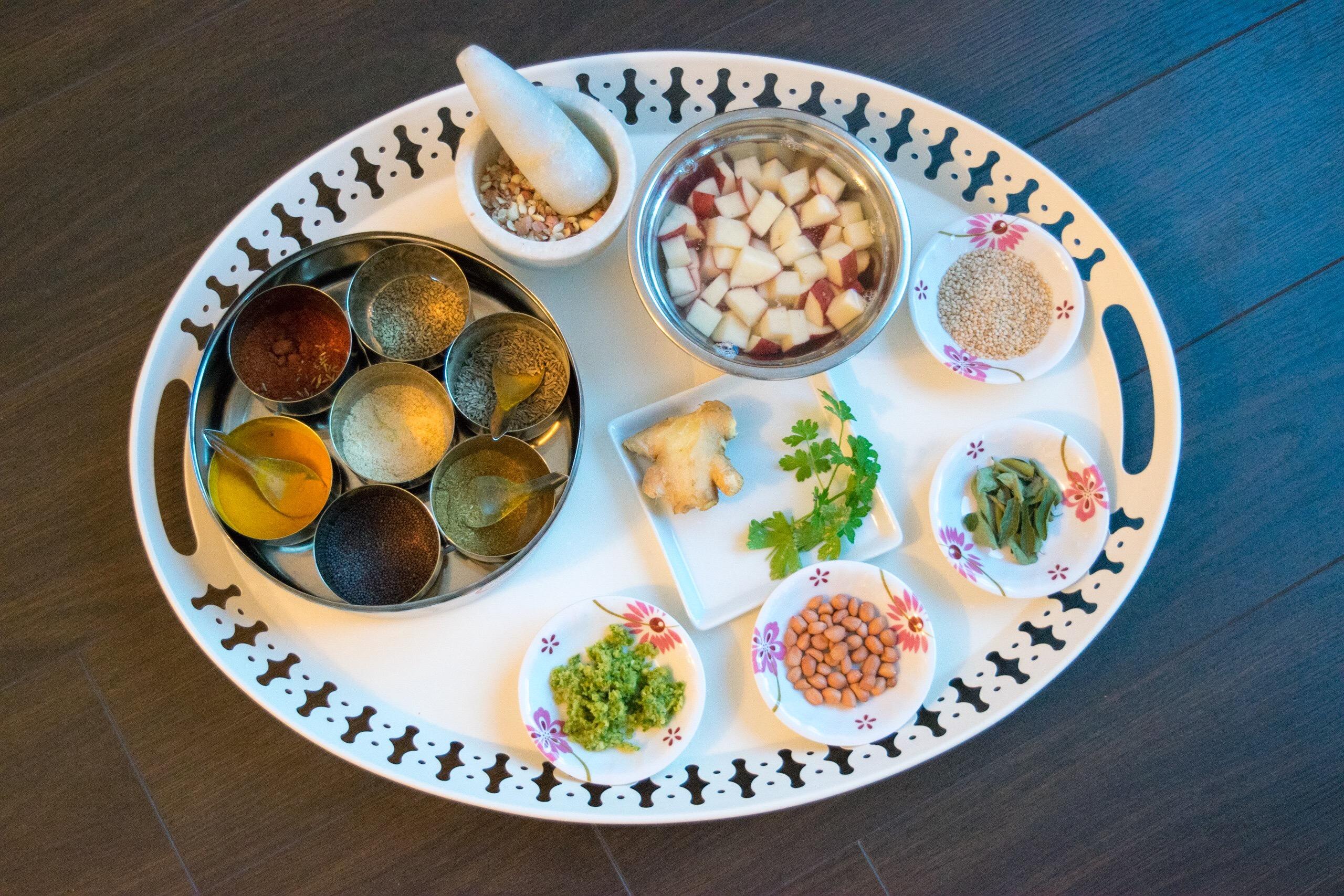 Ingredients Platter
