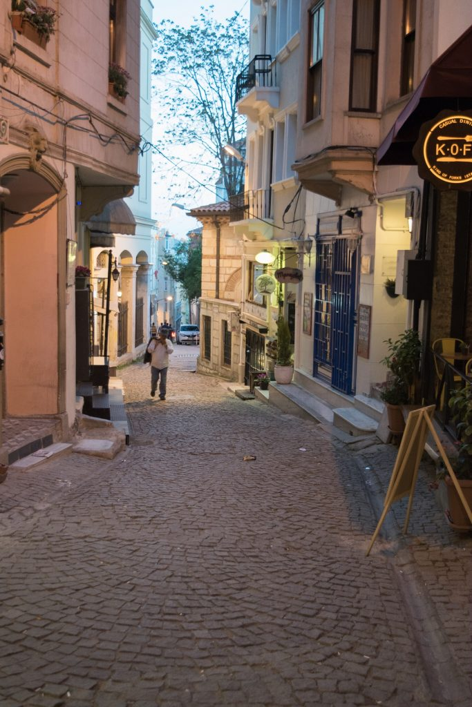 Cobble streets of Istanbul.