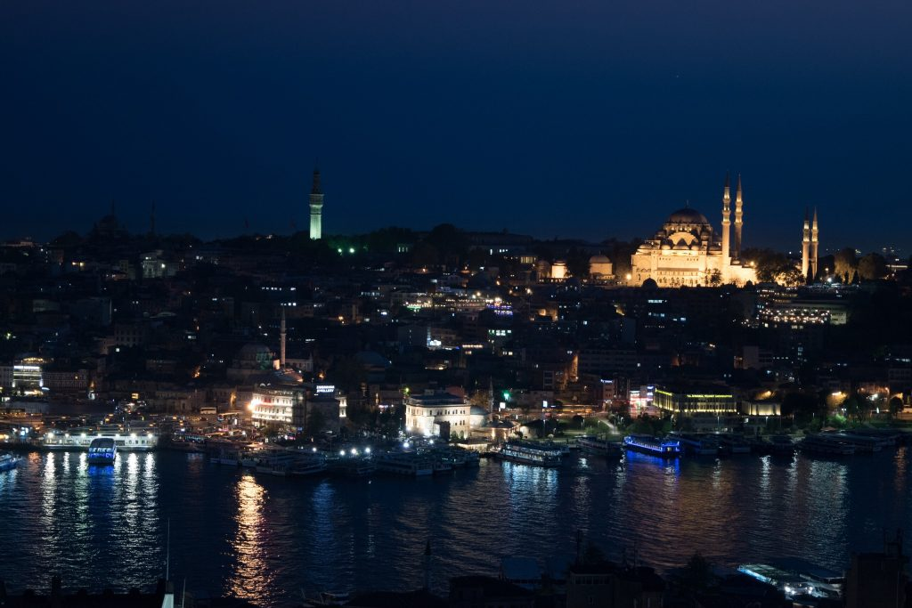 View of Golden Horn, Yeni Cami from Galata Tower