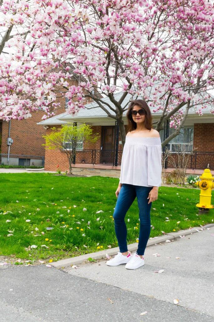 Beside the spring pink blooms - NidhiPatel.com