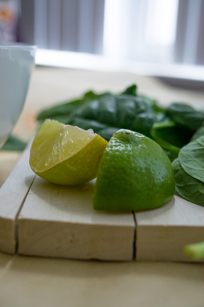 Lime and Spinach
