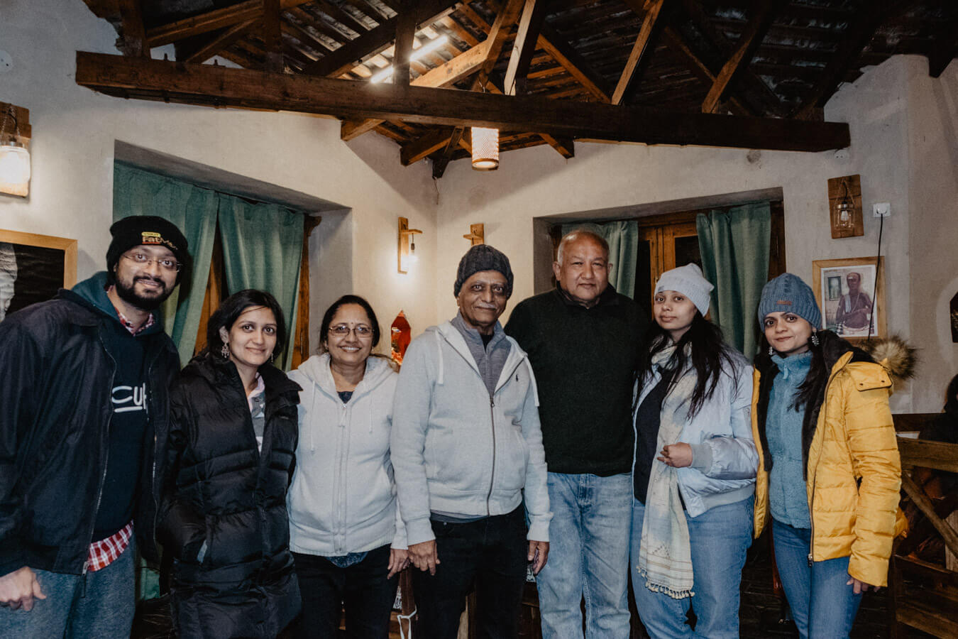 Our family and Deepak uncle.