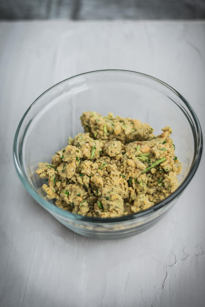 Chickpeas mix and spices.