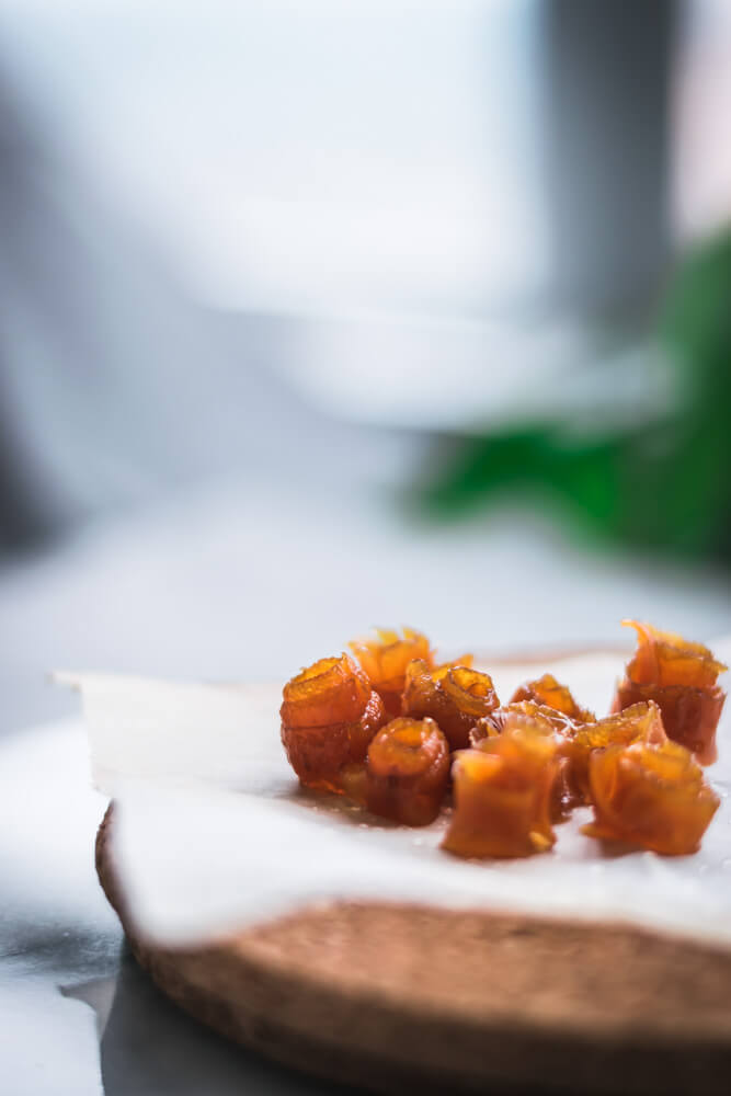 Candied Carrot Peel Rose