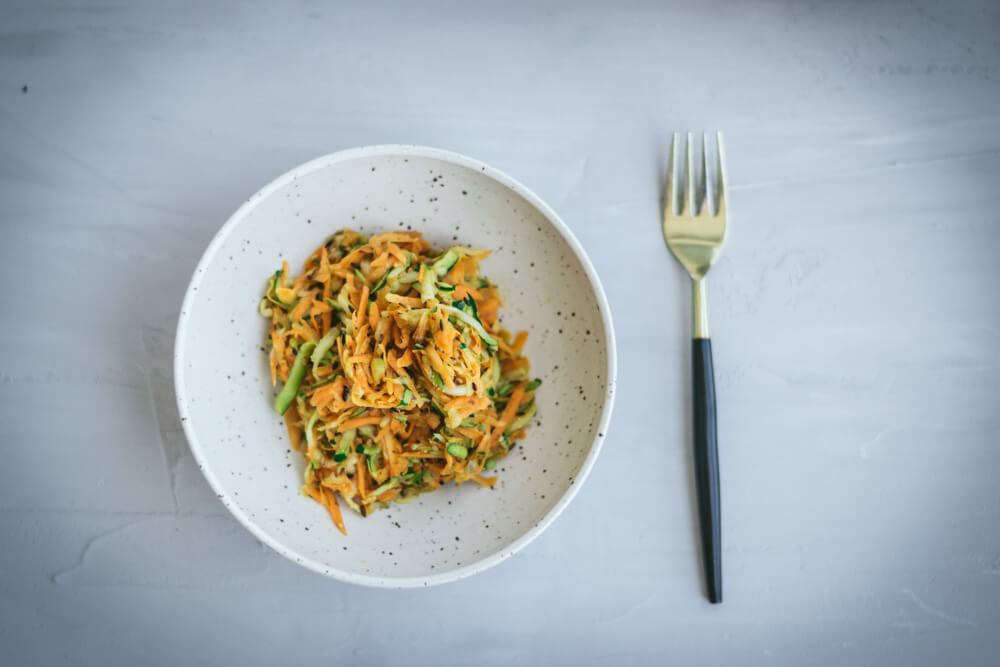 Spiced Salad: zucchini and carrot nutrition power pack